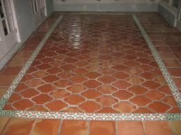 Saltillo Tile Cleaning Los Angeles by Saltillo Espanola Floor Tile With Talavera Tile Border Yelp