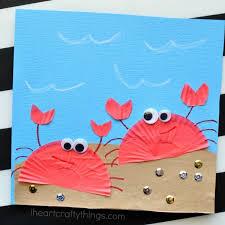 Simple Summer Crafts For Preschoolers Crab Ideas Craft Preschool On Art Camp Artb