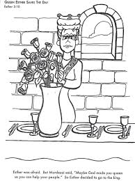 Queen Esther Saves The Day Bible Coloring Page For Kids To Learn Stories