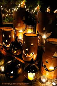 Night Time Entertaining Made Festive With The Home Depot Pottery Pumpkin Luminaries