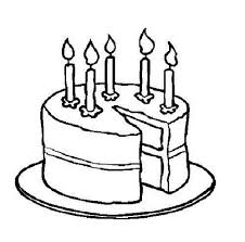 Cake black and white birthday clipart black and white