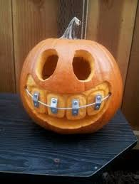Dremel Pumpkin Carving Set by Pumpkin With Giant Teeth U0026 Braces Humor Pinterest Braces