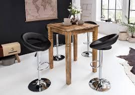 finebuy bartisch fb50110 bartisch rusti 80 x 110 x 80 cm massiv holz natur esstisch quadratisch rustikaler hoher tisch altholz shabby chic echtholz