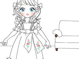 Coloring Pages Doll Page Free Printable From