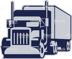 Semi Truck Stock Vector Art & More Images Of Commercial Land Vehicle ...
