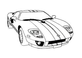 Cars Coloring Pages Free Printable Ford Gt Page Classic Car Automobile Police