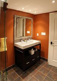 Best Paint Color For Bathroom Walls by Best 25 Orange Bathrooms Ideas On Pinterest Orange Bathroom