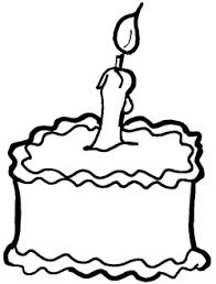 Birthday Cake Outline Clip Art