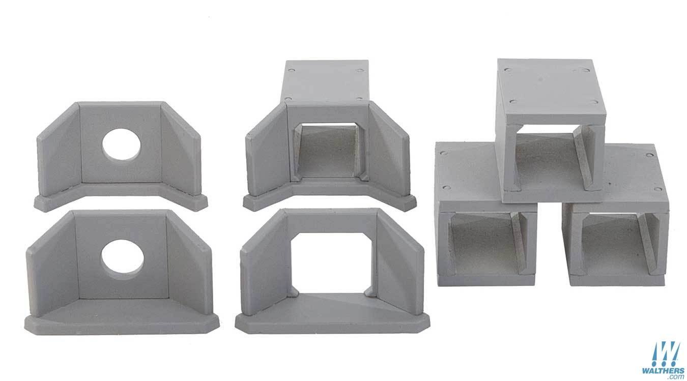 Walthers 933-4558 Concrete Culverts Kit