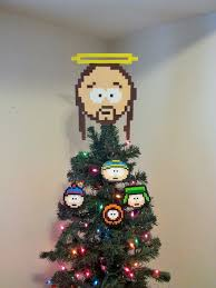 Christmas Tree Toppers Etsy by South Park Jesus Perler Bead Christmas Tree Topper And