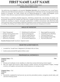 Professional Military Resume Samples Templates