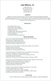 Sample Resume For Route Delivery Driver Resumes Truck Drivers Job Lovely Resum