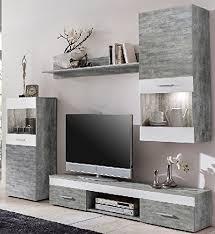 moderne wohnwand weiss grau gecheckt wohnzimmerschrank weiss grau gecheckt 2935