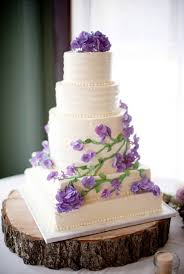 Purple Sweetpea Wedding Cake Herb Garden Theme