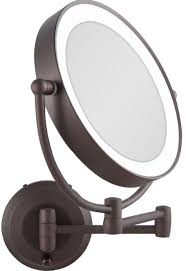 1x 10x cordless led lighted wall mount makeup mirror ledw810