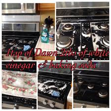 Unclogging A Kitchen Sink With Vinegar by How To Clean Black Range Stove Top Mix 1tsp Of Dawn And 2 Tbsp Of
