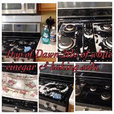 Bathtub Drain Clog Baking Soda Vinegar by How To Clean Black Range Stove Top Mix 1tsp Of Dawn And 2 Tbsp Of