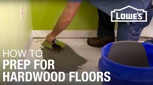 Preparing Osb Subfloor For Tile by How To Prep Subfloor For Hardwood Youtube