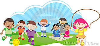 Kids Playing Outside Clipart