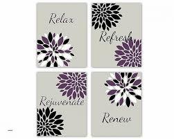 Purple Bathroom Wall Art Elegant Decor Relax Refresh Renew Rejuvenate Grey High Resolution Wallpaper