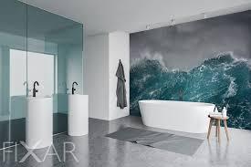 das stürmische meer fototapeten fürs badezimmer