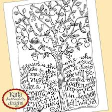Psalm 1 Be Like A Tree Bible Journaling Color Von Karladornacher