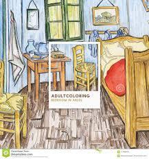 schlafzimmer in arles 1888 durch erwachsene farbtonseite