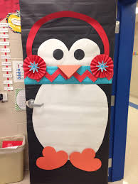 Winter Themed Classroom Door Decorations by Winter Classroom Door Who Doesn U0027t Love A Penguin With A Chevron