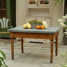 Zinc Topped Country Table