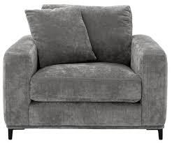 casa padrino luxus wohnzimmer sessel grau schwarz 105 x 102 x h 80 cm wohnzimmermöbel