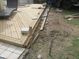 construire terrasse bois sur dalle beton
