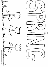 Spring Word Coloring Page