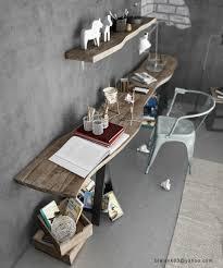 fabriquer un bureau en bois decoration fabriquer bureau bois rustique étagère fabriquer un
