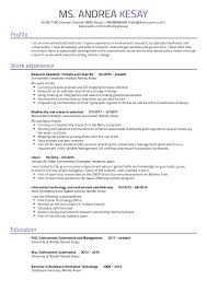 Environmental Research Assistant Resume Sample