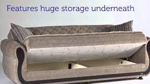 Istikbal Sofa Bed Uk by Argos Zilkade Three Seat Sofa Sleeper With Storage In Light Brown
