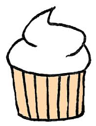 White Cupcake Clipart by WordDraw
