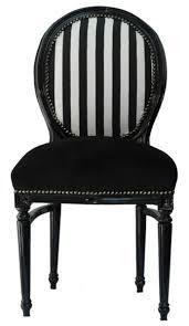 casa padrino barock esszimmer stuhl schwarz weiß streifen schwarz rund