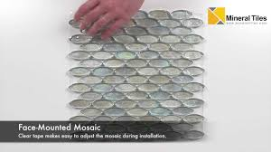 Best Glass Tile Nippers by Iridescent Pool Glass Tile Clear Oval 120kelugg21401 Youtube