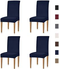 Xflyee Stretch Dining Room Chair Covers Jacquard Removable Washable Kitchen  Parson Chair Slipcovers Set Of 4 (Navy, 4 Pack) Xiazuo Ding Chair Slipcovers Stretch Removable Covers Set Of 6 Washable Protector For Room Hotel Banquet Ceremonywedding Subrtex Sets Fniture Armchair Elastic Parsons Seat Case Restaurant Breathtaking Your Home Idea How To Sew A Slipcover The Ikea Henriksdal Hong Elegant Spandex Chairs Office Grey 4 Chun Yi Waterproof Jacquard Polyester Small Checks Antistain 2 Linen Store Luxurious Damask Cover Form Fitting Soft Parson Clothman Printed High Elasticity Fashion Plaid Kitchen 4coffee Subrtex Dyed Pieces Camel Leanking Knit Fabric Decor Beige Pcs Leaf Stretchable 1 Piece Yellow