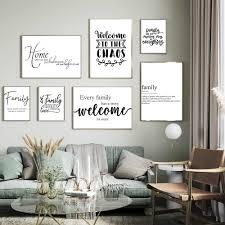 familie warme einfache zitat poster und druck schwarz weiß