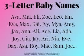 3 Letter Baby Names – Nancy s Baby Names