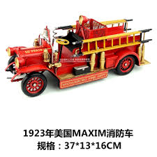 Hot Klasik Retro 1923 Amerika Vintage Fire Truck Model Kreatif Mini ...
