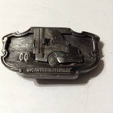 100 Truck Belt Classics International Pewter Belt Buckle Vintage 1988 Etsy