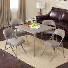 Details About Meco Sudden Comfort Deluxe Double Padded Chair And Back - 5  Piece Card Table Set
