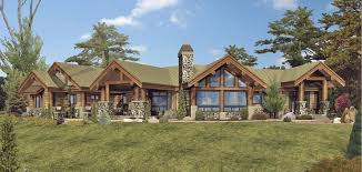 Large One Story Homes by Cumberland Log Homes Cabins And Log Home Floor Plans