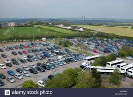 100 Farm Folly An Aerial View Of The Car Park At Park And Zoo Stock