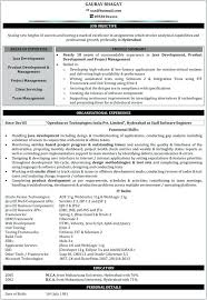Experience Summary In Resume Examples For Software Engineer Java Developer Samples Freshers Development