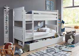 relita etagenbett buche teilmassiv weiß lackiert