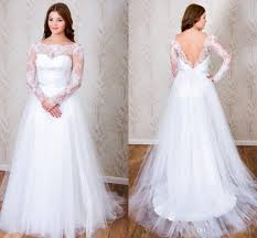 discount 2017 plus size wedding dresses with sheer lace long