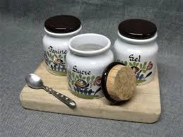 Ceramic Kitchen Canister Sets Vintage Ceramic Kitchen Canister Set